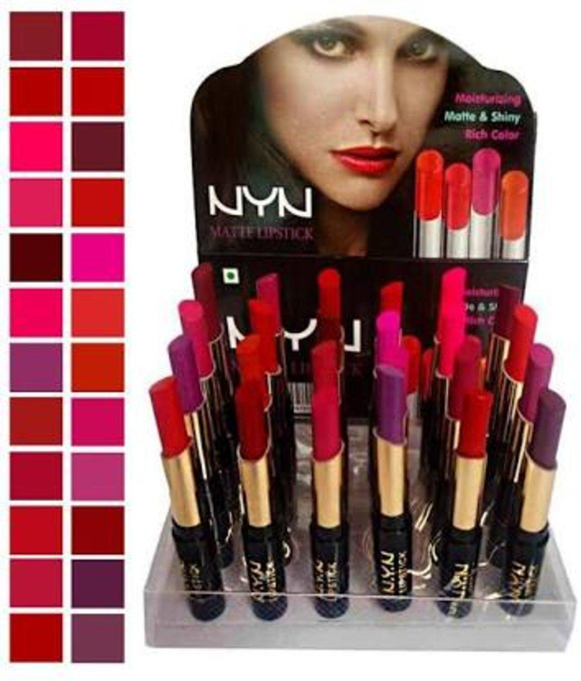 Spanking Matte Waterproof Lipsticks - Pack of 24