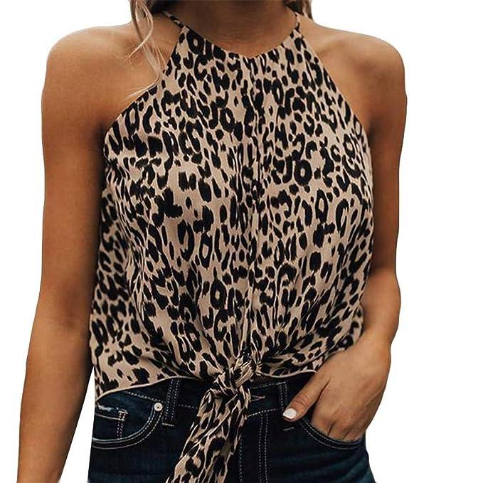 Amazon.com: Ymibull - Chaleco para mujer, diseño de leopardo ...