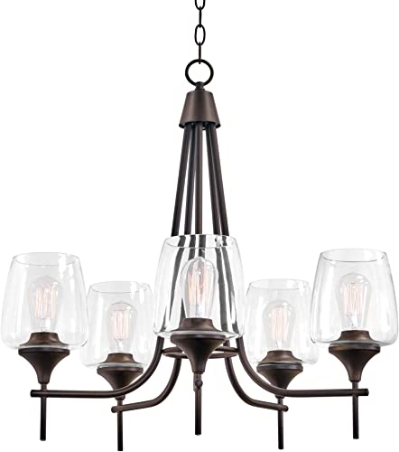 Deal of the week: Kira Home Stella 26″ Large Modern Chic 5-Light Chandelier Wine Glass Shades
