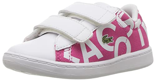f00075d94 Lacoste Girls  Carnaby EVO 117 1 SPI Sneaker Pink White 4 M US Toddler