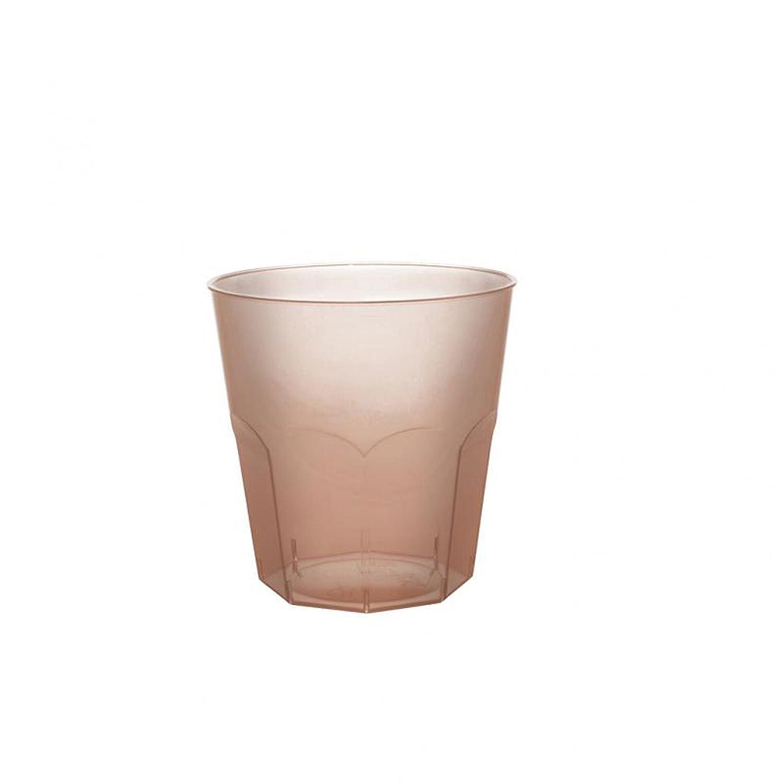 Bicchieri Cocktail in Plastica PS 220cc cfz 50pz Cioccolato Trasparente