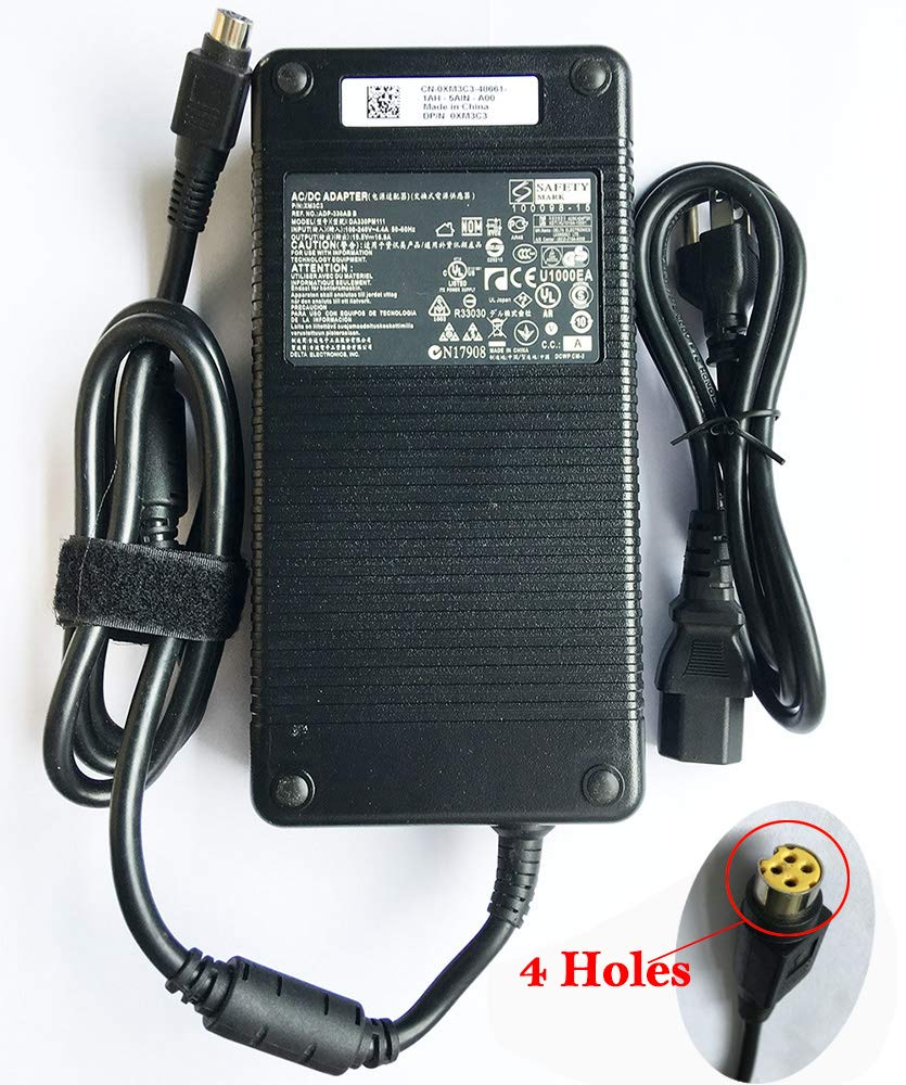 New Replacement 330W 19.5V 16.9A Power AC Adapter Power Supply ADP-330AB B for 330W Clevo P370SM-A, P775DM3, MSI GT83VR GT73VR GT80, Asus ROG GX700VO-GC011T Computer 330w Power Supply 4 Holes by BINGKERS (Image #1)