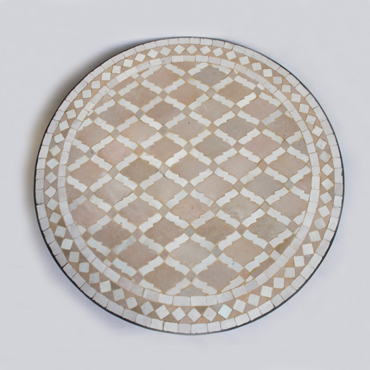 Round Mosaic Tile Side Table 24'' by Design MIX Furniture