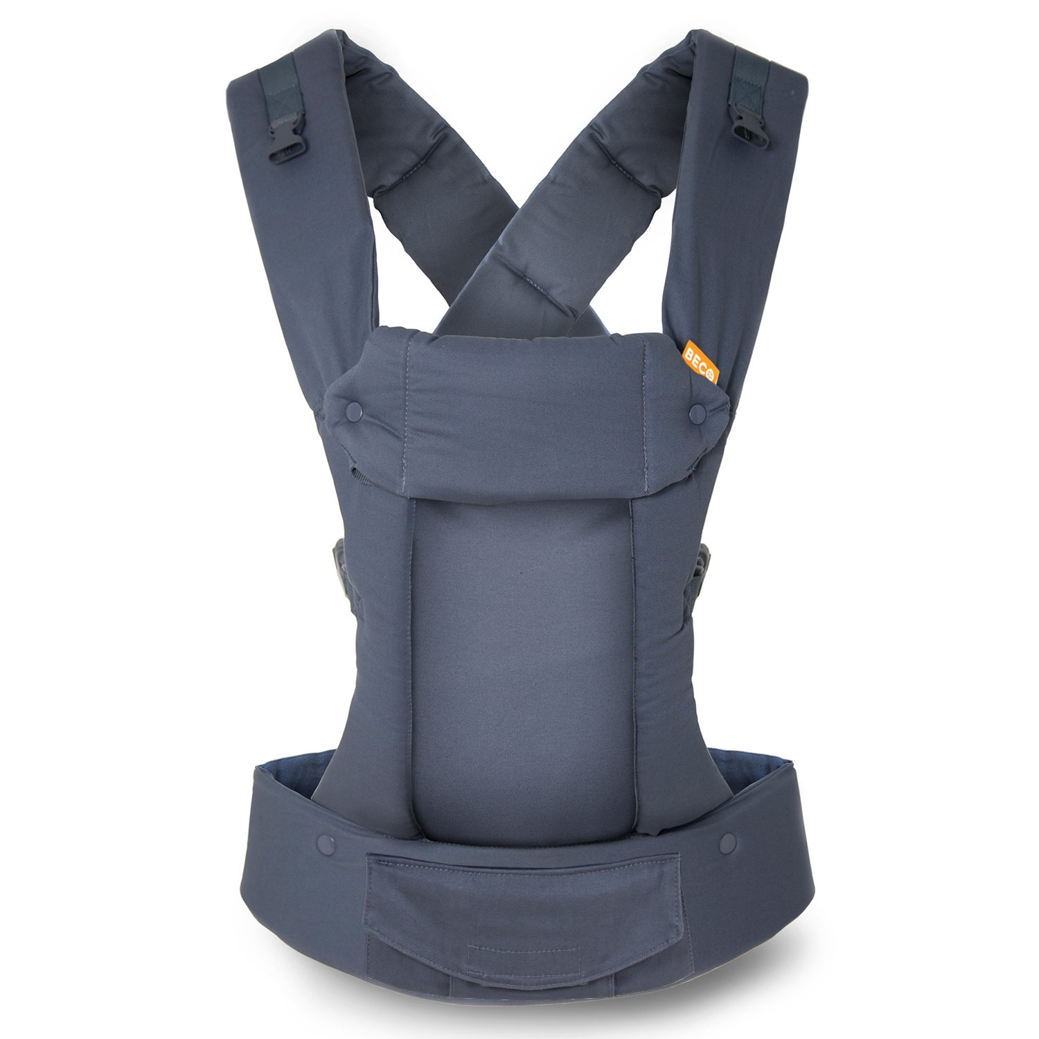 Gemini Performance Baby Carrier By Beco - Multi-Position Soft Structured Sling w/ Adjustable Straps & Comfort Padding for Infant/Toddler Hip Support - Metro Black with Pocket Beco Baby Carrier GPRE-MBLK