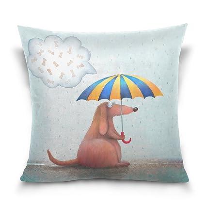 ALAZA manta funda de almohada Funda de cojín (cuadrado funda de almohada, paraguas con