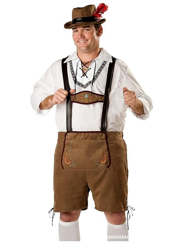 Loved&Found Herren Trachten Trachtenhemd Trachtenhose Kniebundhose mit Träger in versch. Farben Oktoberfest