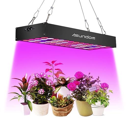 Asundom Lampe Pour Plante Avec Un Uv Panneau Spectre Complet Et Ir