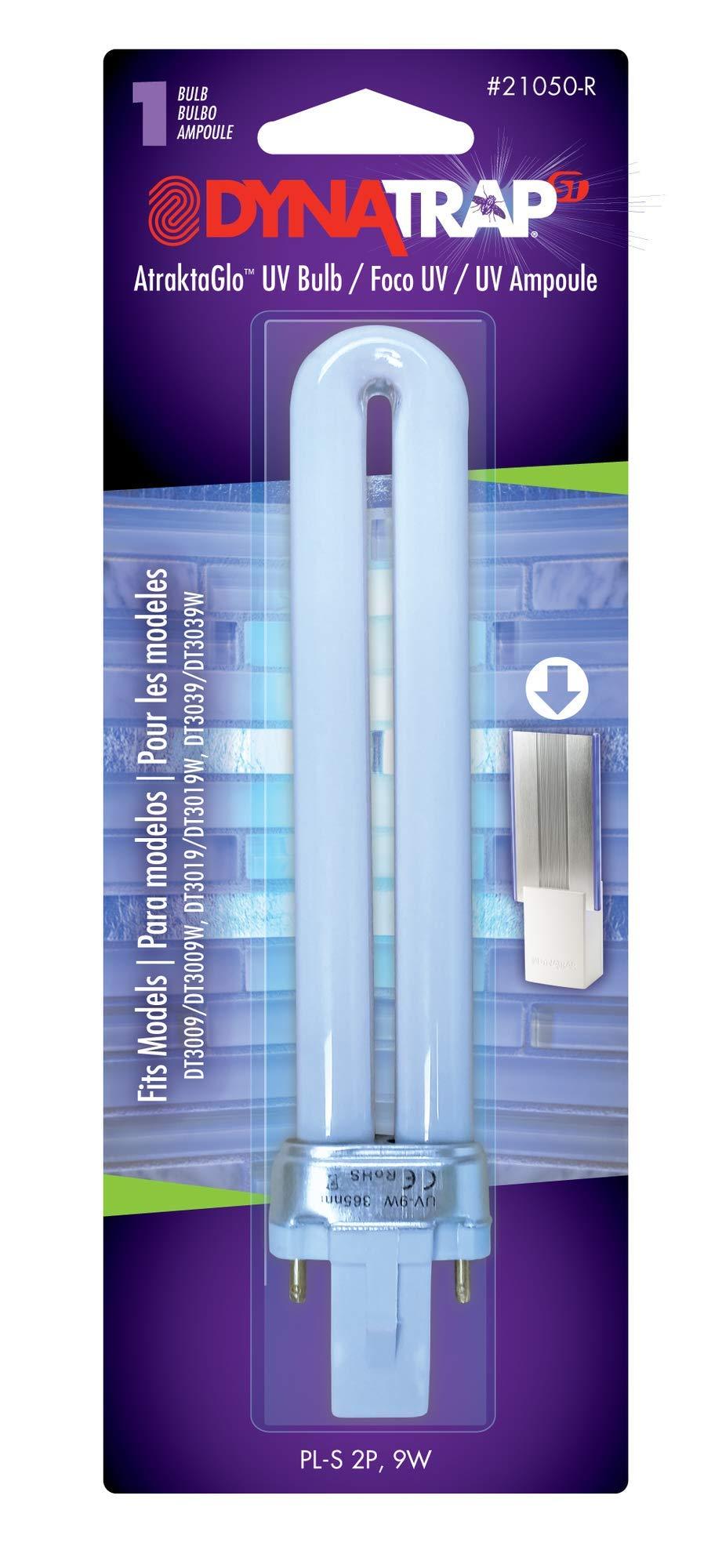 DynaTrap 21050 Indoor Insect Trap, DT3039 AtraktaGlo 9-Watt UV Bulb for FlyLight Models DT3009, DT3019, Plain by DynaTrap
