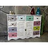 Livitat® Kommode Sideboard 113 x 78 cm Anrichte Landhaus Shabby Chic Vintage Weiß LV1002