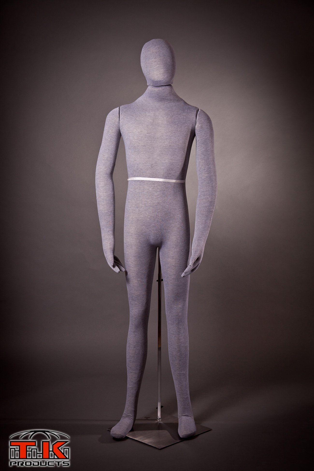 Male Mannequin, Flexible Posable Bendable Full-size Soft -Grey, by TK Products, Great for Costumes by TK Products, LLC