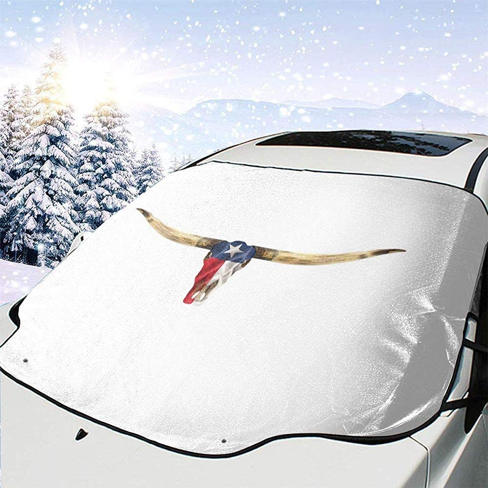 Hiram Cotton Car Sunshade Texas Tx Longhorn Lone Star State Flagge Auto Windschutzscheibe Sonnenschutz Abdeckung Vorne Wasser Sonnenlicht Schneedecke