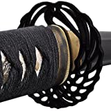 Handmade Sword - Stainless Steel Unsharpened Iaido Training Katana Sword, Handmade, Full Tang, Black Scabbard