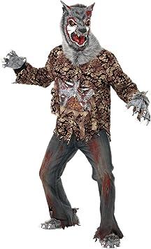 Smiffys Disfraz de hombre lobo zombie para hombre| ideal para ...