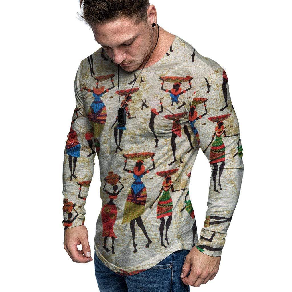 1KTon Men Christmas Pullover Sweatshirts Fun Ugly 3D Digital Printed Round Neck Imitation Cotton And Linen Top by 1KTon