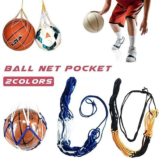 Bolsa de malla para balón de baloncesto de fútbol, color amarillo ...