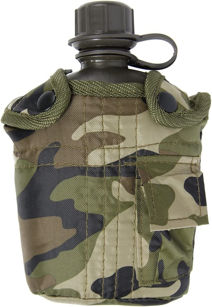 Combate del Ejército Botella de agua militar de EE.UU. DPM GI británica camuflaje correa de cintura bolsa Clip