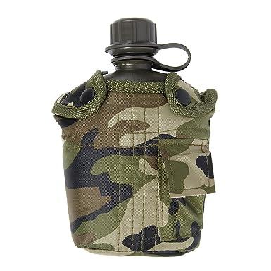 Army Combat Military Water Bottle BTP US GI British Camo Waist Belt Pouch Clip BTP