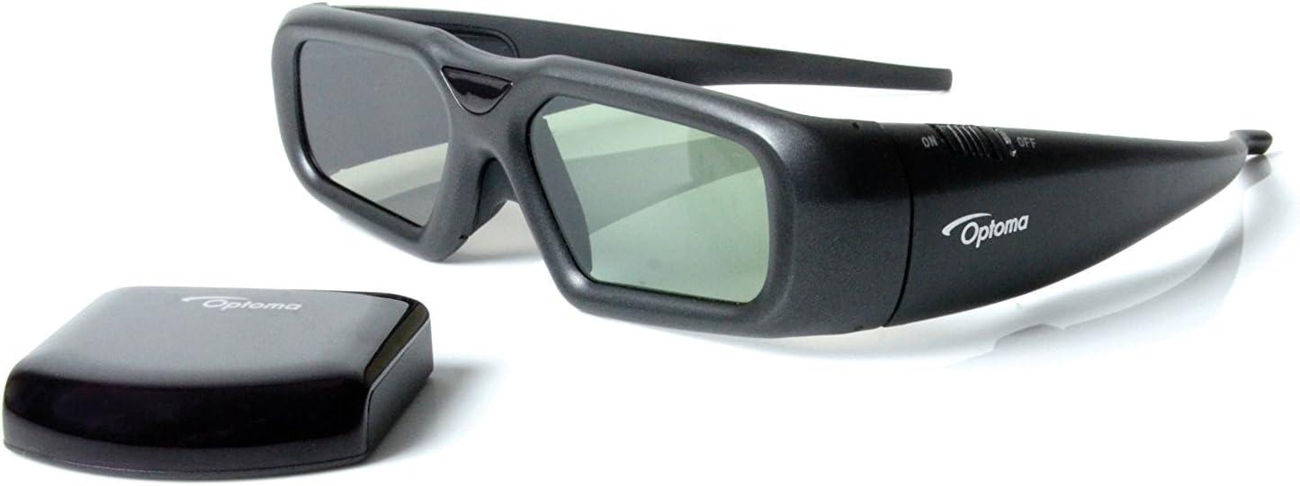 Optoma ZF2300 - Gafas 3D (inalámbrico, 60 h), color negro: Optoma ...