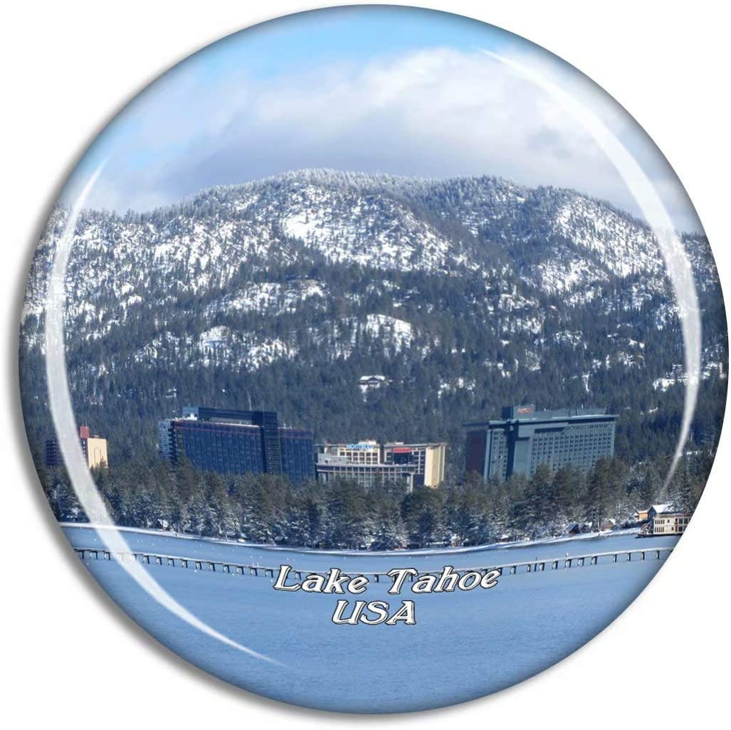 Weekino USA America South Lake Tahoe Fridge Magnet Travel Souvenir City Collection 3D Crystal Glass Gift Strong Refrigerator Sticker