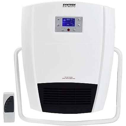 Syntrox Alemania Digital Baño con mando a distancia y porta toallas
