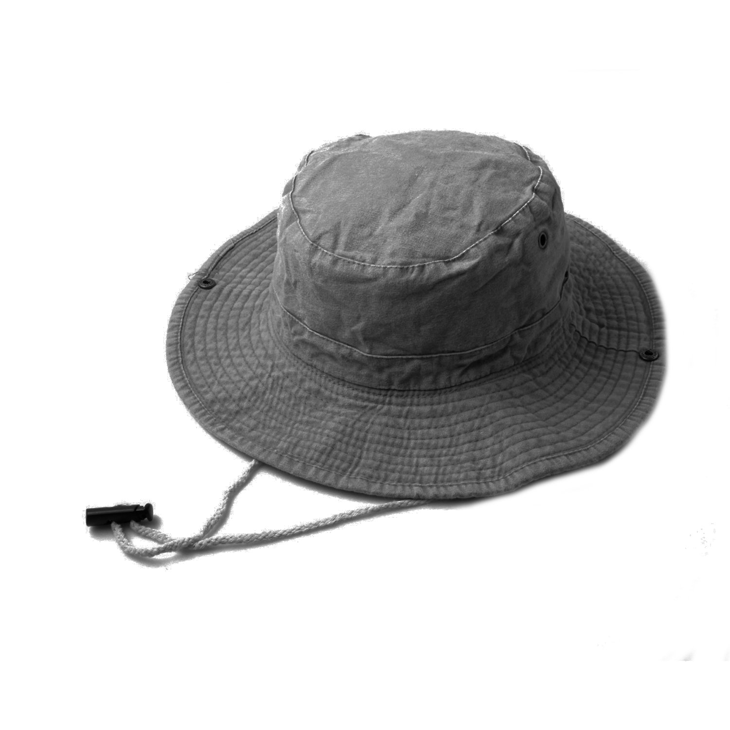 Grey Denim Safari Bucket Hat with Toggle Adjuster