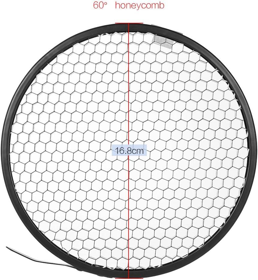Leepesx Photo Studio 16.8cm 60 Degree Honeycomb Grid for 7 Standard Reflector Diffuser Lamp Shade Dish