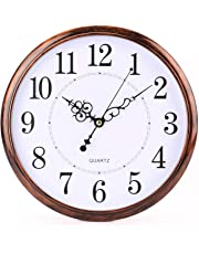 Tosnail 12 Inch Retro Non Ticking Silent Quartz Decorative Wall Clock