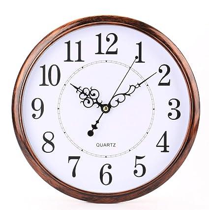 Tosnail 30 cm Orologio da Parete di Silenzioso Stile Vintage ...