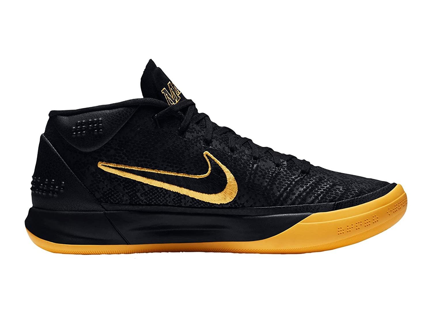 online store e4525 05bcb Nike Kobe AD BM Mens Hi Top Basketball Trainers AQ5164 Sneakers Shoes (UK  9.5 US 10.5 EU 44.5, Black University Gold 001)