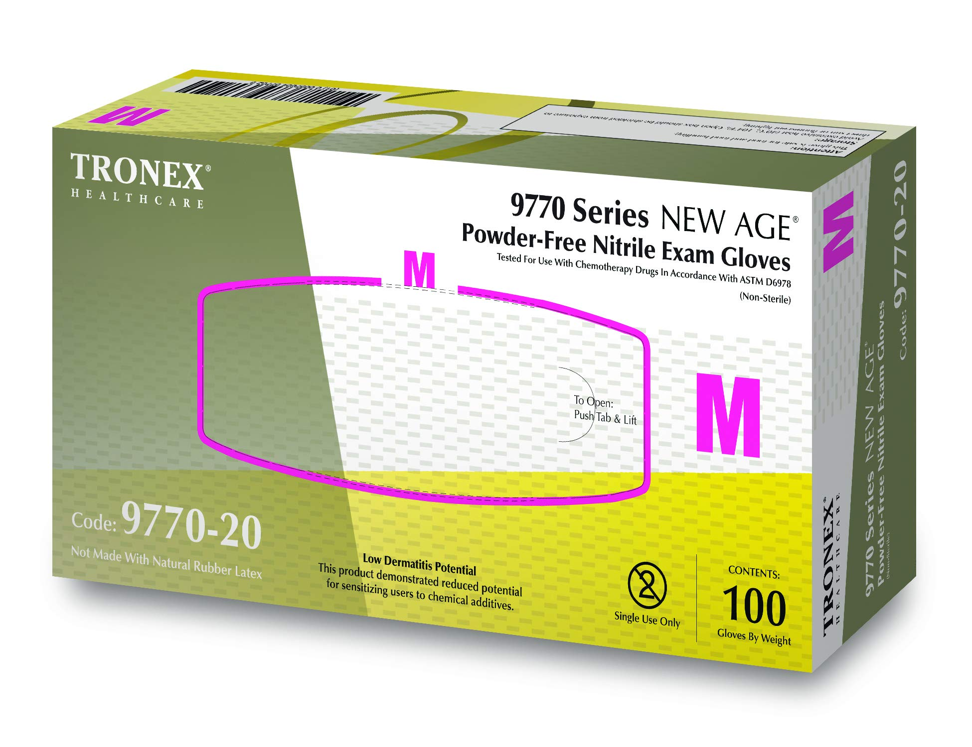Tronex 9770 -Nitrile Chemotherapy Exam Glove, Fully-Textured, Powder-Free, Blue (Small, Case of 1000) by TRONEX (Image #4)