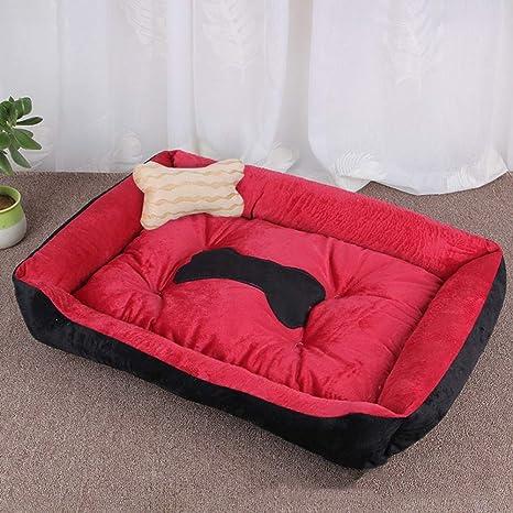 Amazon.com: CQLXZ Dog Bed, Short Plush Orthopedic Memory ...