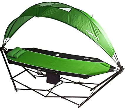 Kijaro All In One Outdoor Camping Hammock With 180 Degree Detachable Shade  And Rain Canopy And