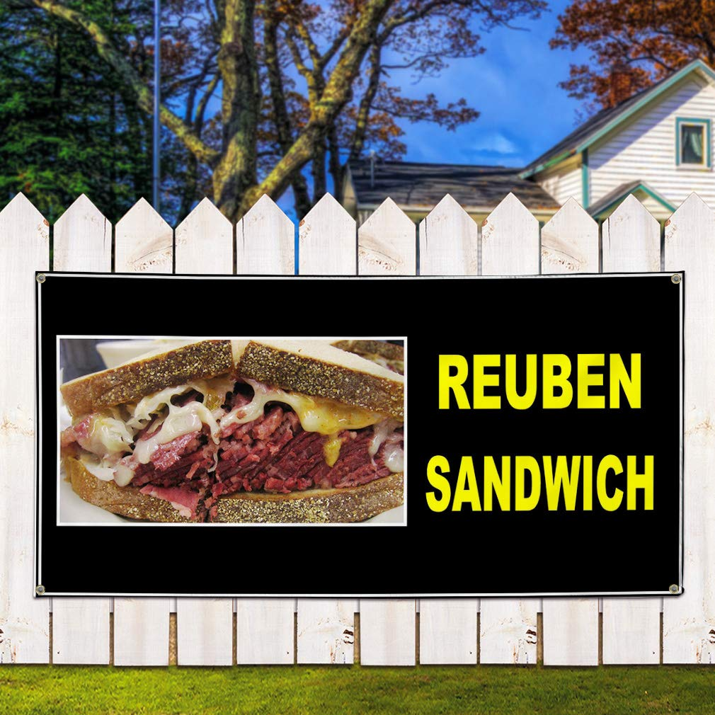 4 Grommets Set of 3 Vinyl Banner Sign Delicious Homemade Meat Pies Outdoor Marketing Advertising Red Multiple Sizes Available 24inx60in