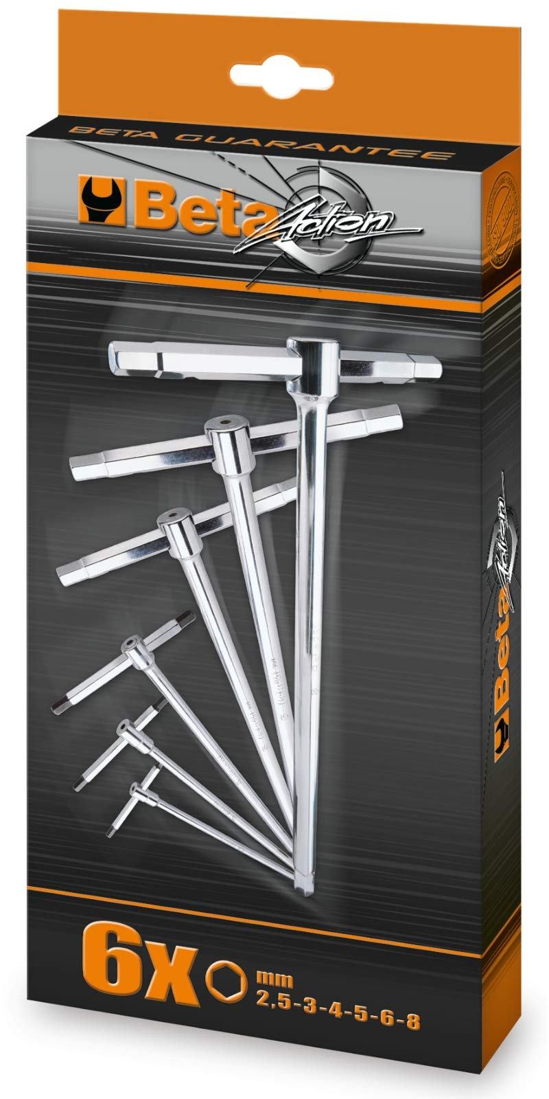 Beta 951/S6 T-handle Wrench Set with three hexagon male ends (Metric) by Beta