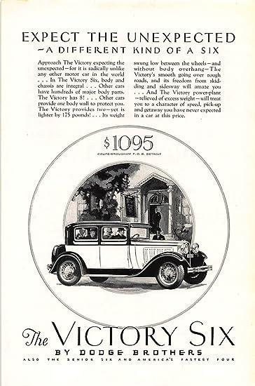 print ad 1928 dodge brothers victory six car