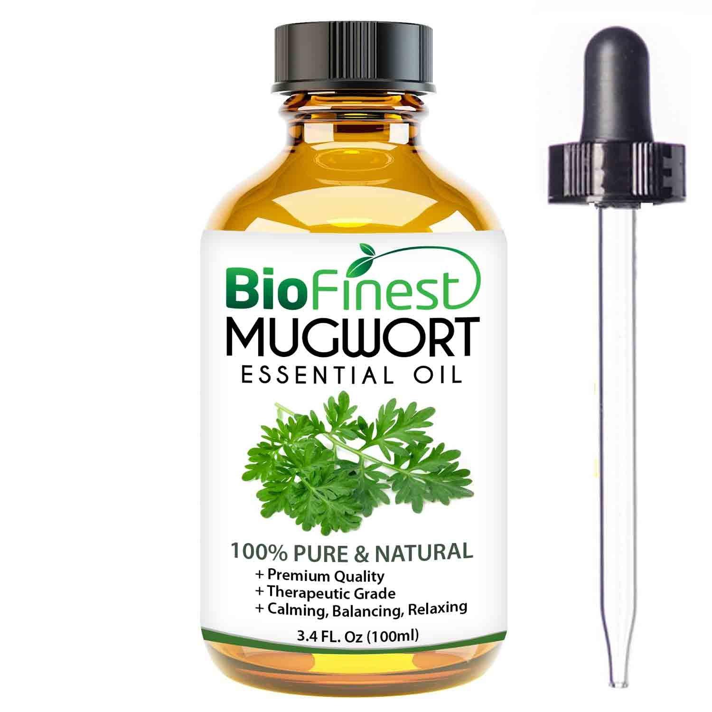 Biofinest Mugwort Essential Oil - 100% Pure Organic Therapeutic Grade - Best for Aromatherapy, Skin Care - Ease Fatigue Stress Headache Anxiety Nausea Cuts Wounds - Free E-Book & Dropper (100ml)