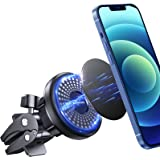 Universal Magnetic Phone Holder for Car【Bionic Alligator Clip】 Anwas Stable Air Vent Car Phone Mount 【6 Strong N52 Magnets】 F