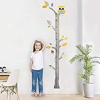 Brunoko medidor de altura infantil - Pegatina Decorativa de diseño original - Vinilo autoadhesivo muestra un Árbol con Búho