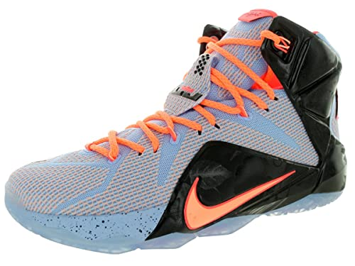 the latest 405b0 56aa1 Nike Lebron XII Mens Basketball Shoes 684593-488 Aluminum Hot Lava-Black- Sunset