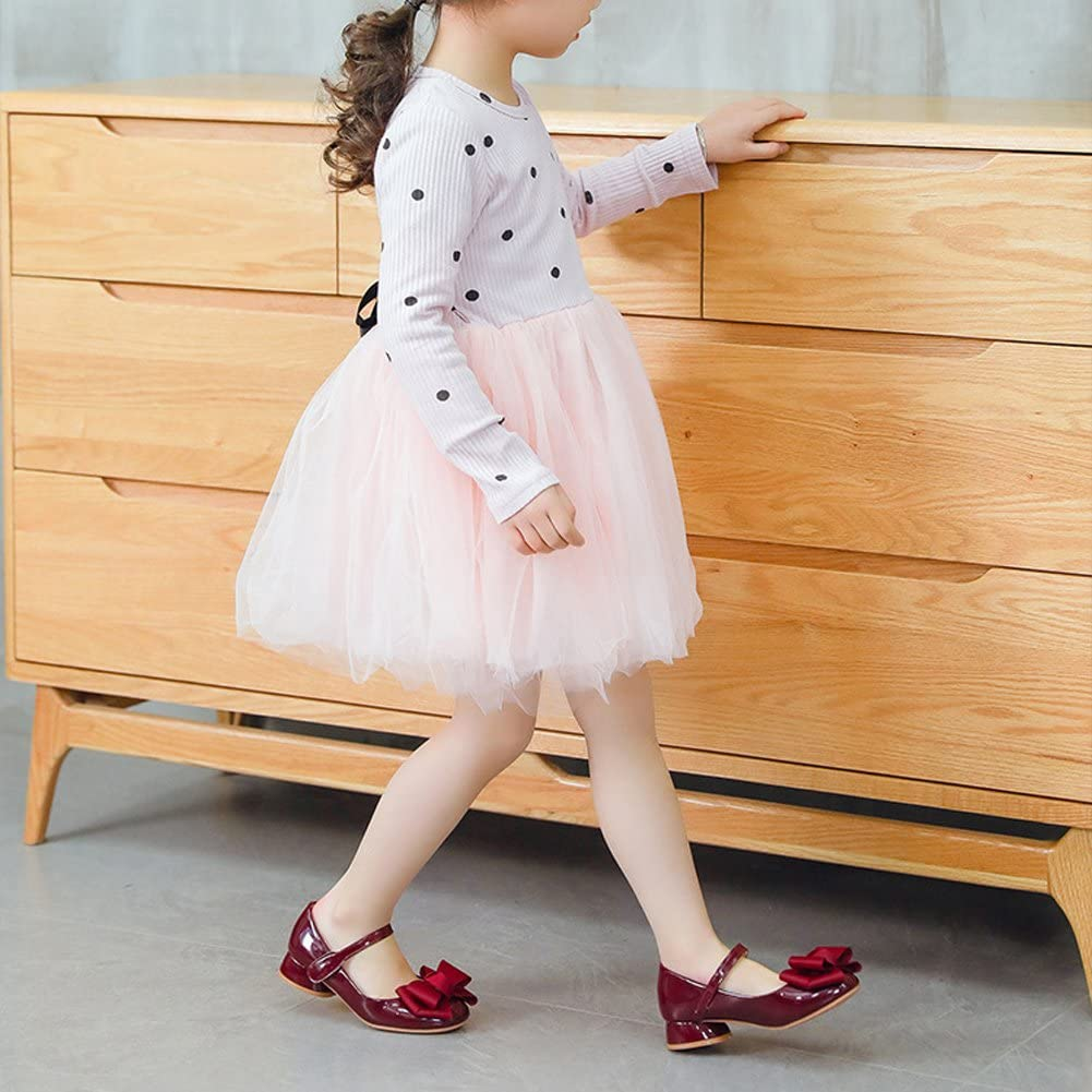 Toddler//Little Kid//Big Kid UBELLA Girls Bowknot Mary Jane Shoes Princess Dress Shoes