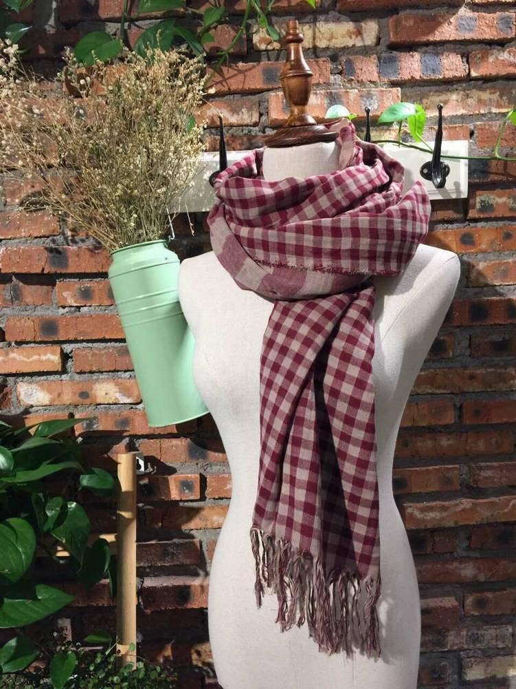 MTX Ltd Vintage Ethnic Cotton Unisex/Men/Women Warm Stripes Scarves Warm Otoño and Invierno Outdoor Multi-Functional Fgreyion Trend Wild Warm Scarves Shawl Scarf Gift, Negro 15c9c8