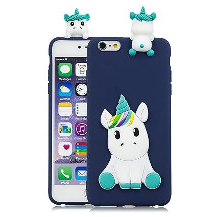 13dff863c01 HopMore Compatible con Funda iPhone 6S Plus/iPhone 6 Plus Silicona Dibujo  3D Divertidas TPU