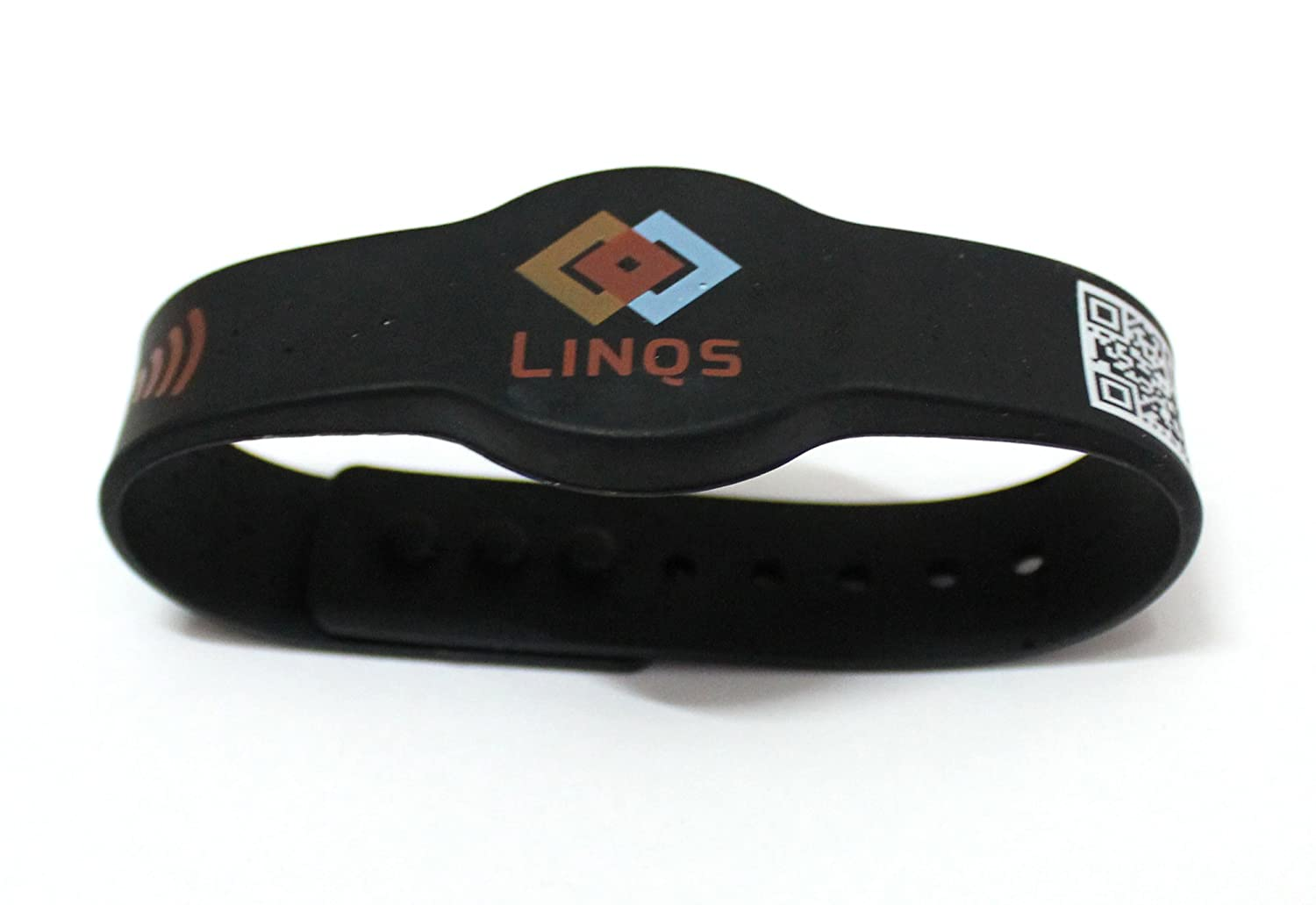 LINQS NFC Smart Wrist Band (Black) - with fast NXP NTAG213 NFC Chip