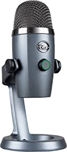 Blue Yeti Nano Professional Condenser USB Microphone with Multiple Pickup Patterns & No-Latency Monitoring for Recording and Streaming on PC & Mac - Shadow Grey