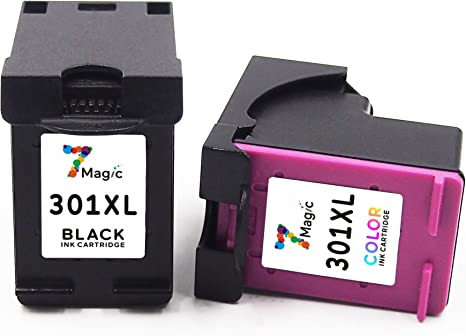 7Magic Cartucho Remanufacturado de Tinta HP 301 XL (1 Negro y 1 ...