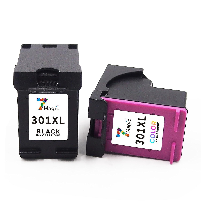 7Magic Cartucho Remanufacturado de Tinta HP 301 XL (1 Negro y 1 Trí-colour) de Alta Capacidad Compatible con HP Deskjet 2540 1510 1050a 1050 3050 ...