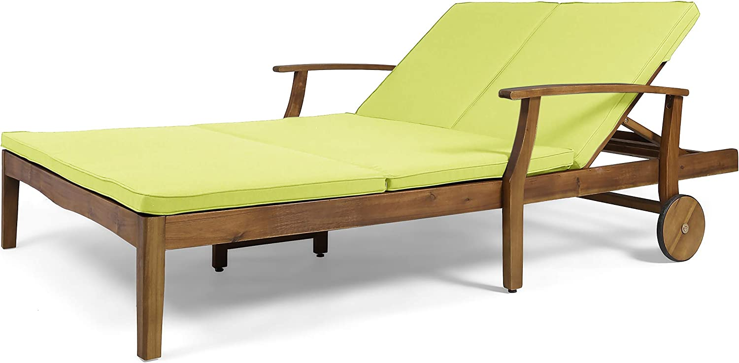 Samantha Double Chaise Lounge for Yard and Patio