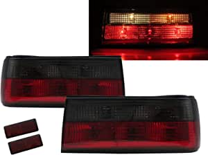 luz de freno. tercera luz trasera LED roja LED Luz de freno 2D 5D transparente