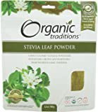 Organic Traditions Stevia Powder, Green Leaf, 3.5 Ounce (Pack of 12)