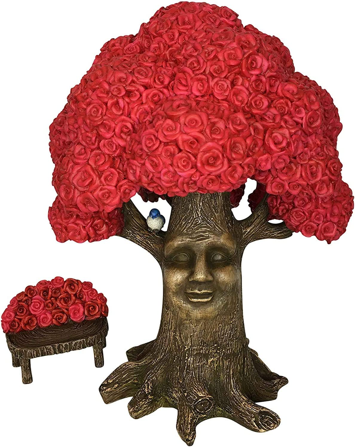 GlitZGlam Fairy Garden Miniature Tree: Mrs. Rose The Pink Rose Tree of Azar (9 Inch Tall) for The Garden Fairies and Gnomes - from The Beautiful Azarian Collection. A Fairy Garden Accessory
